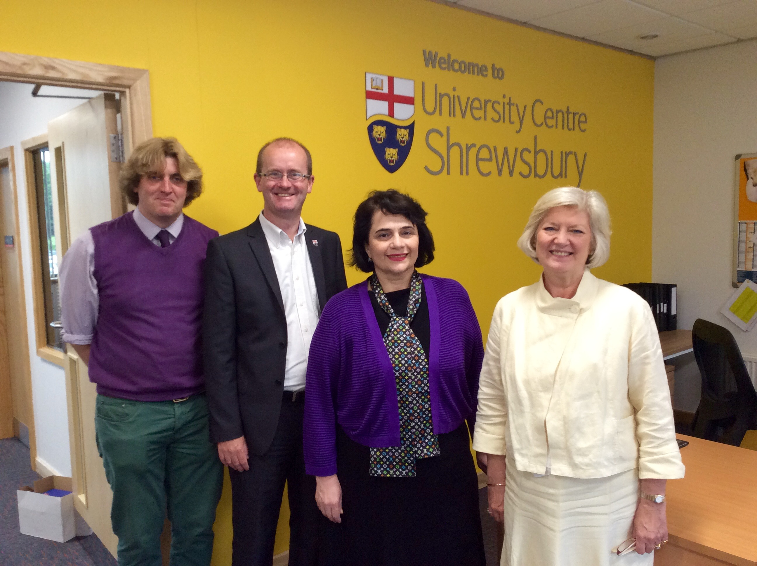 Left to right: Prof Tim Jenkins, UCS Programme Manager; Paul Kirkbright, UCS Deputy Provost; Prof Rima Beriashvili, TSMU Vice-Rector and Prof Anna Sutton, UCS Provost.
