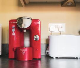 Tassino offee Maker.  If you are a coffee lover there are complimentary pods for you