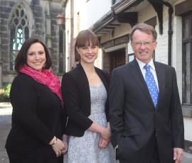 Teresa Heath Wareing from Source, Kirsten Henly from Shrewsbury BID and Mike Pritchard from