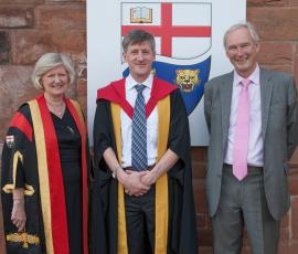 Left to right - Prof Anna Sutton, Prof John Buckley and Prof David Wood