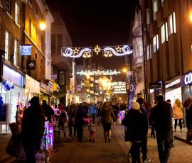 Christmas lights in Shrewsbury