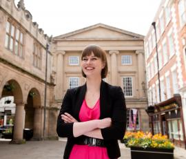 Shrewsbury BID manager executive director Kirsten Henly