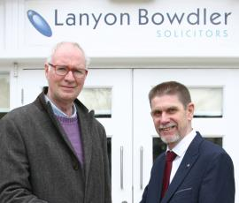 David Dawkins, organiser, the Big Arts Show and Andrew Evans, senior partner, Lanyon Bowdler Solicitors