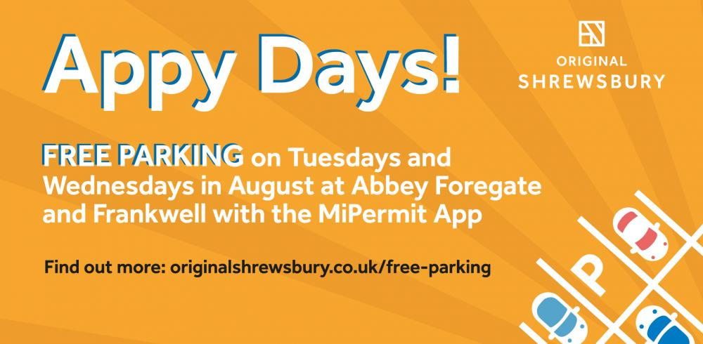 Free Parking on Tuesdays and Wednesdays in August