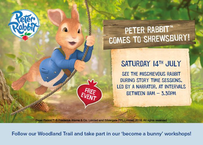 Peter Rabbit comes to Shrewsbury