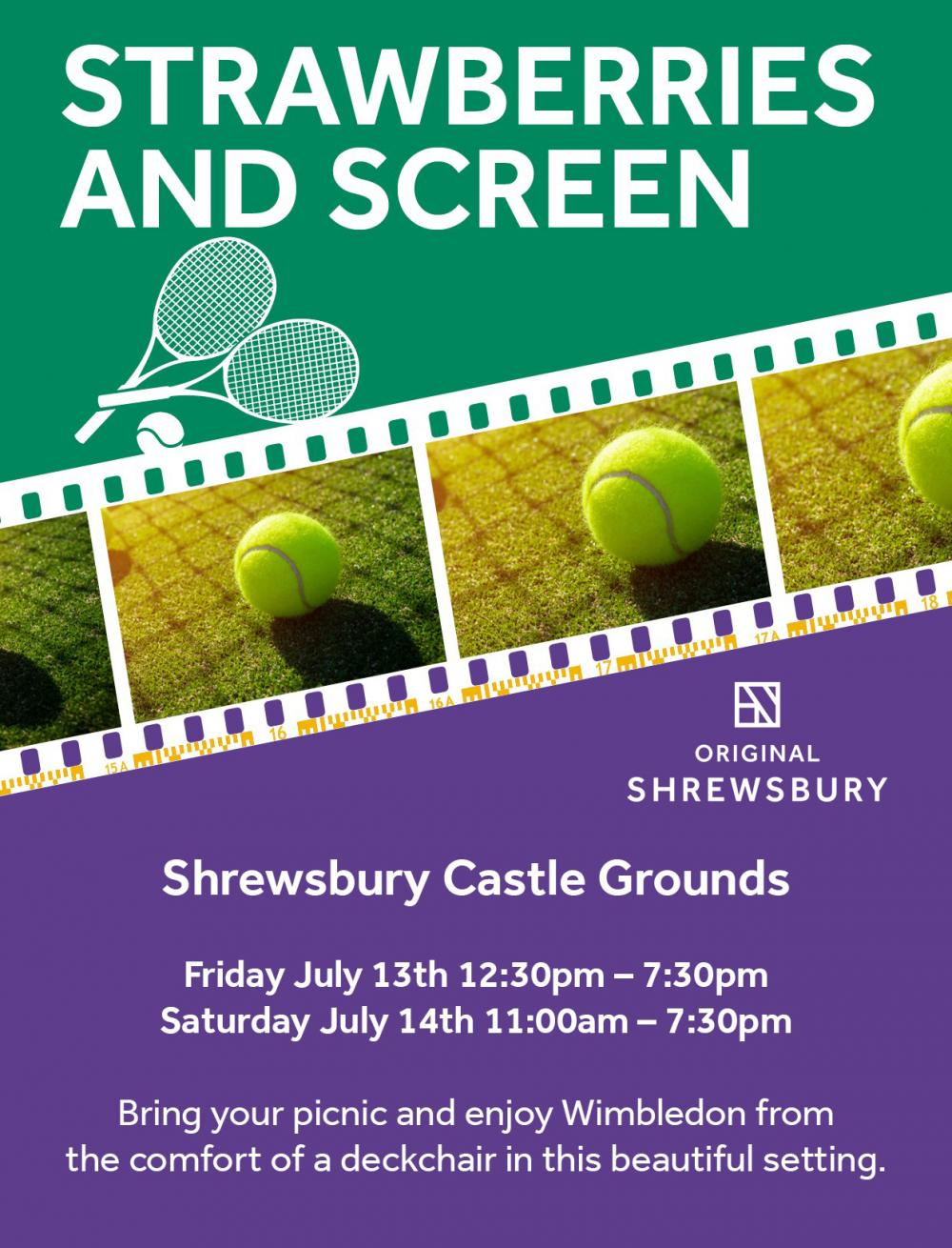 Strawberries and Screen - Wimbledon at Castle Gates