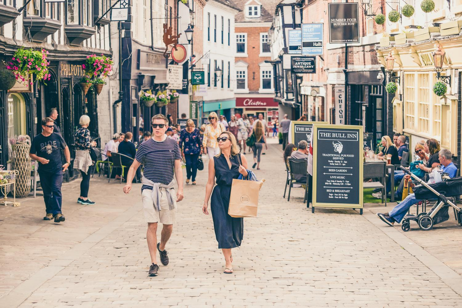 Shrewsbury named as one of Britain's healthiest high streets