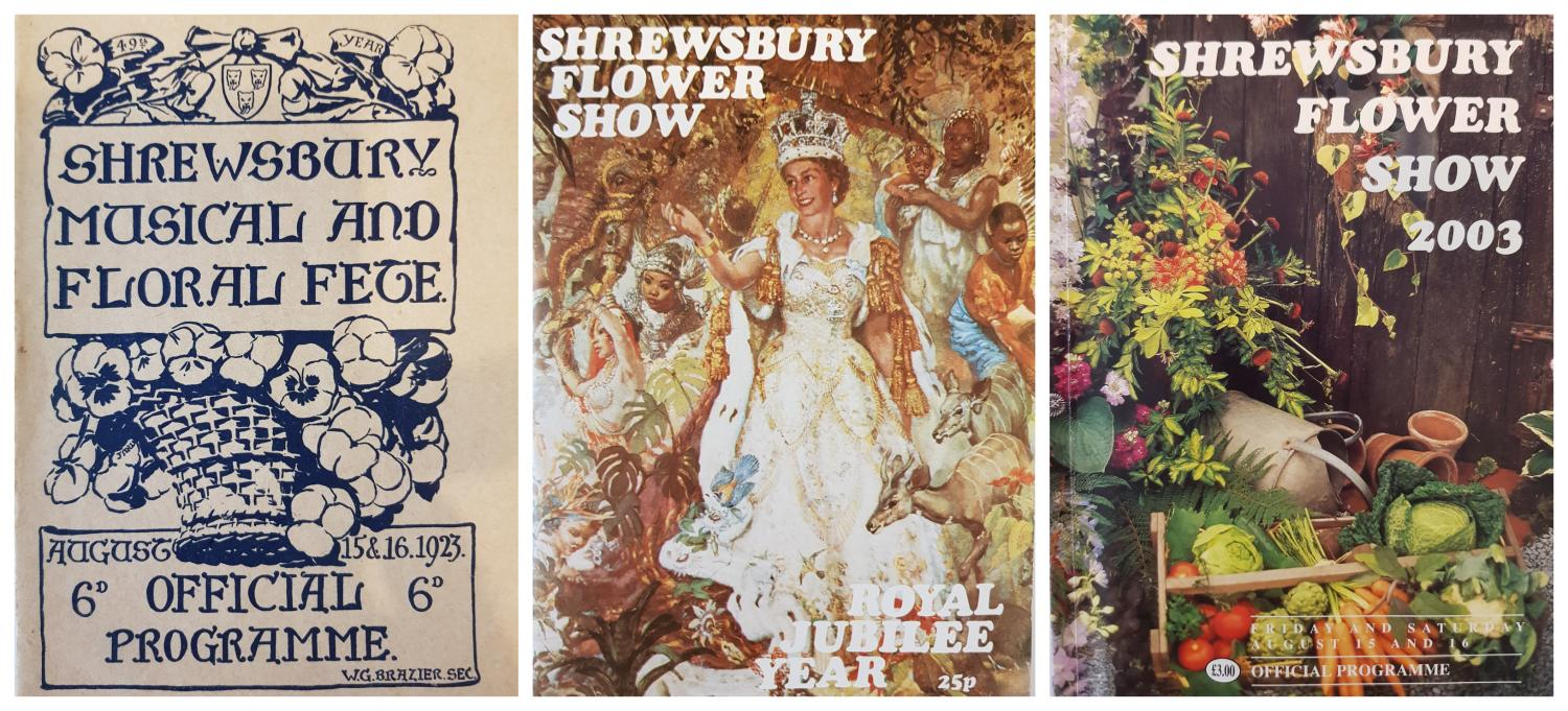 A selection of historic Flower Show programmes; 1923, 1977 and 2003