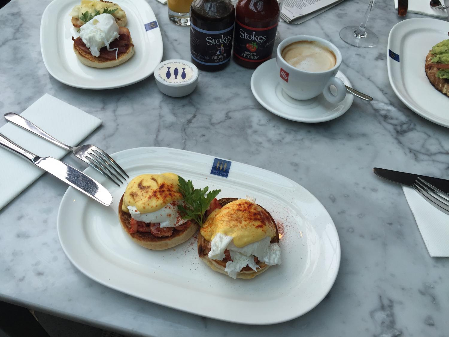 Lobster Benedict at Loch Fyne Shrewsbury
