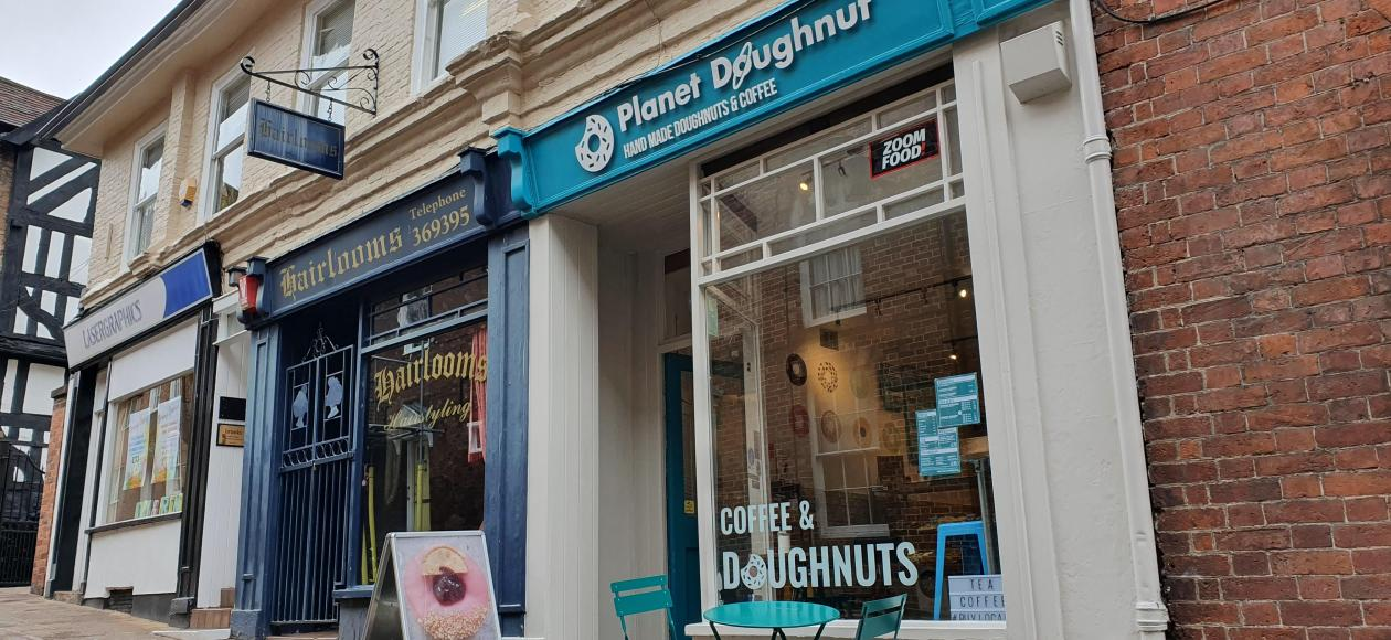 Planet Doughnut shop front