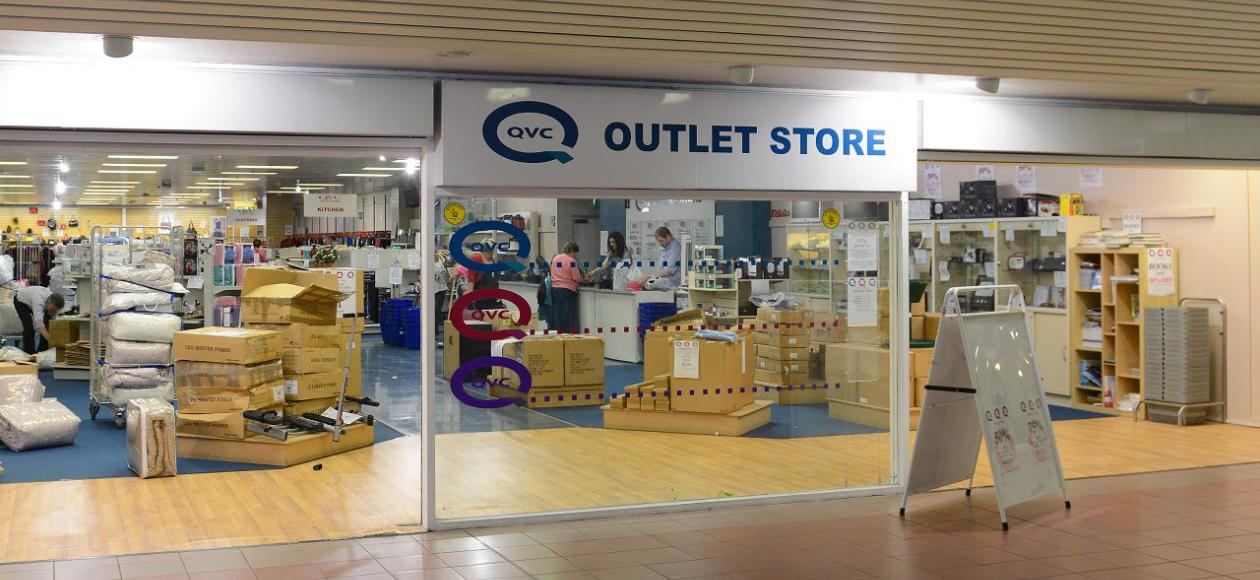 We have two outlet stores, one in Warrington and one in Shrewsbury. Please find the full addresses and opening hours below: QVC Outlet Store, Warrington: Birchwood Shopping Centre, 34 Benson Road, Birchwood, Warrington, WA3 7PQ, Tel: and. QVC Outlet Store, Shrewsbury: Lower Mall, Darwin Shopping Centre, Shrewsbury, SY1 1BP, Tel.