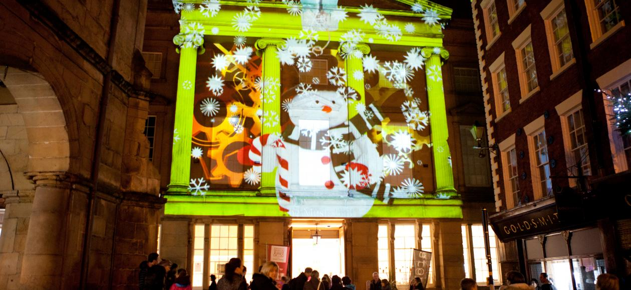 Shrewsbury Square light projections Christmas