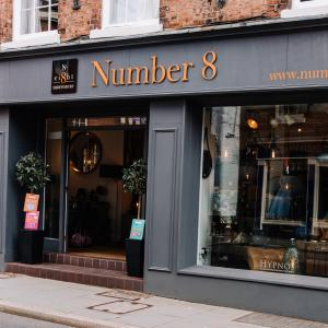 Outside view of Number 8 Shrewsbury shop