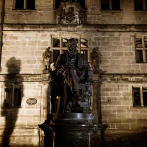 Darwin's statue and his ghost