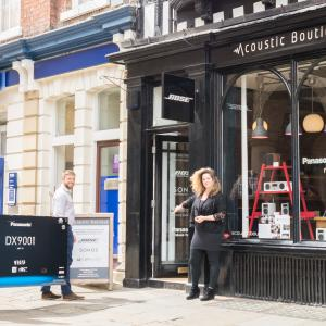 Acoustic Boutique in Shrewsbury Square. Independent shopping in Shrewsbury