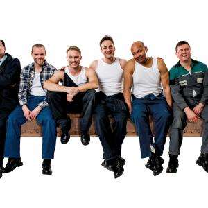 Andrew Dunn, Joe Absolom, Chris Fountain, Gary Lucy, Louis Emerick, Kai Owen in THE FULL MONTY credit Matt Crockett