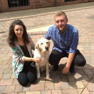 University Centre Shrewsbury, guide dogs exam destress