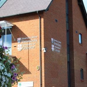 University Centre Shrewsbury Guildhall. Education, students, studying in Shropshire
