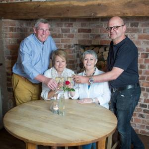 L-R Gerry & Ann Bean with Clare & Graham Jenkins