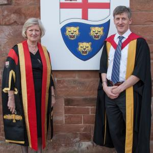 University Centre Shrewsbury - Professor, John Buckley, with Professor Anna Sutton, Provost of UCS