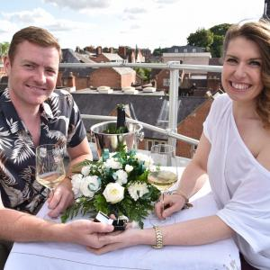 Marriage proposal on the rooftop of Britain's Favourite Market