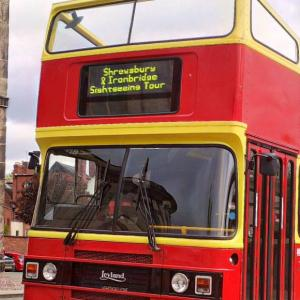 New Shrewsbury and Ironbridge Gorge, hop on and off, open top sightseeing bus service launched