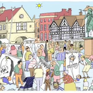 Shrewsbury square by Wilbur