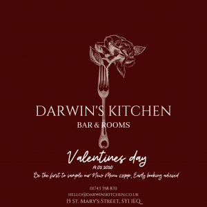 Valentines Day at Darwins Kitchen