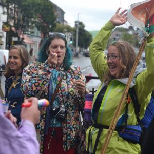 One Women Walk Wales